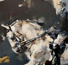 Pascale Chandler: Dressage I: fine art | StateoftheART Blue Hallway, South African Art, Dressage, Canvas Size, Equestrian, Original Artwork, Horses, Fine Art, Gallery