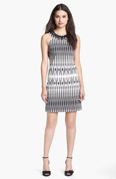 Adrianna Papell Embellished Cutaway Sheath Dress available at #Nordstrom