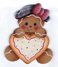 2414719168cb5 HP GINGERBREAD with Heart Cookie FRIDGE MAGNET. Adriana Borrais · galletas  de gengibre