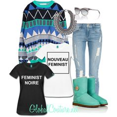 """""""Feminnist"""" by globalcouture on Polyvore http://globalcouture.net"""