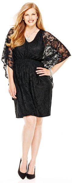 Black Lace Kimono Dress (plus size) Plus Size Party Dresses, Dress Plus Size, Plus Size Outfits, Black Lace Kimono, Dresser, New Years Eve Dresses, Big And Tall Outfits, Dress Images, Kimono Dress