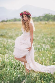 2015 Wedding Trends | pastels | we adore this pastel wedding gown