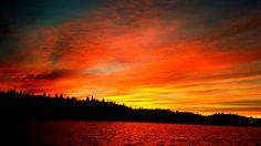 Sunset. Nes i Buskerud. Svartjern. Norway.