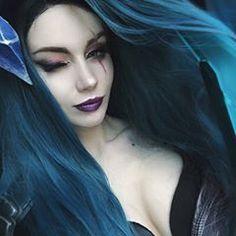 5b66d3a3e7 Amazing Death Sworn Katarina (League of Legends) cosplay by beautiful   roga na noge 😎 .