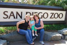 San Diego Zoo with the girls. San Diego, California April 2009