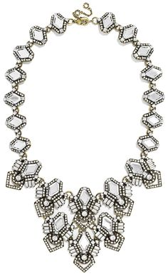 Pairing this sparkly statement necklace with a black maxi dress for a night out on the town.