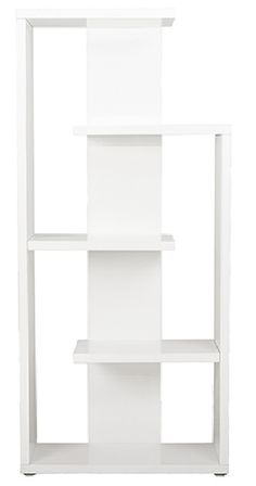 Euro Style Robbie Shelving Unit in White Lacquer Contemporary Bookcase, Modern Bookcase, Modern Shelving, Contemporary Furniture, Bookcase White, White Shelving Unit, Storage Shelves, Shelf, Shelving Units