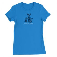 Women's Alien Alien Robot Animal Comic Tee