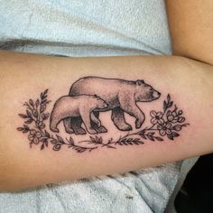 Bears and flowers. By Jennifer lawes.