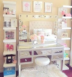 makeup bedroom ideas alluring makeup room ideas best ideas about Vanity Room Ideas Elegant Vanity Room Ideas Ideas Vanity Room, Diy Vanity, Vanity Ideas, Vanity Mirrors, Mirror Ideas, Vanity Shelves, Vanity Drawers, Storage Drawers, Wall Shelves