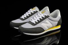 New Balance U410 Retro Womens Trainers Light Gray/Dark Gray/White/Yellow UK Factory Shop