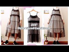 DIY Tulle Ruffle Tiered Cami Dress👒Summer Dress / 手作り服 Cute Comfy Outfit / Sewing Tutorialㅣmadebyaya - YouTube