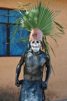 Aztec Death Mask Oaxaca by Ilhuicamina, via Flickr