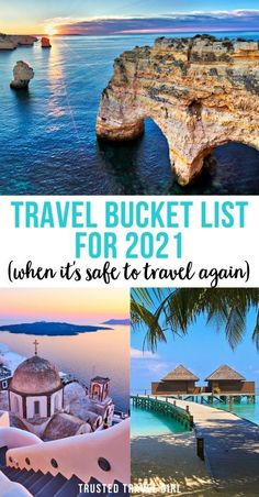 Travel Bucket List for 2021 (When it's safe to travel again). With the pandemic, there is a huge build-up for travelers to experience bucket-list destinations. This Travel Bucket List is chock full of adventures and ideas for even the most well-traveled explorers! Travel Bucket List Destinations | Travel Bucket List Ideas | 2021 Travel Bucket List | Where to go in 2021 | 2021 Best Destinations | #bucketlist #destinations