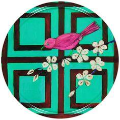 Mariska Meijers Trellis Bird Tray - 45cm Dia. - Turquoise ($76) ❤ liked on Polyvore