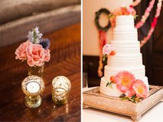 Mary Frances & David: Colorful Summer Wedding #barbscakes #peonies