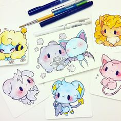 pokemon commissions being sent out today! c: