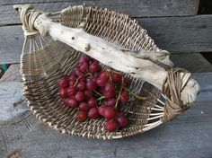 why use a bowl when you can have a unique handmade fruit basket?