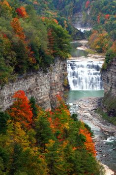 Letchworth State Park in Castile, New York.  I've been there a couple of times and would love to return.  It's absolutely beautiful.