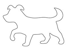 Puppy pattern. Use the printable outline for crafts, creating stencils, scrapbooking, and more. Free PDF template to download and print at http://patternuniverse.com/download/puppy-pattern/