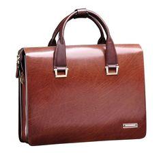 Men's Genuine Leather Bag Portfolio Lawyer Briefcase Messenger Shoulder Bags #Teemzone #MessengerShoulderBag