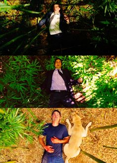 I just got weepy again. Love that Vincent was with him in the end.    Spoiler del final de #lost no lo miren :P