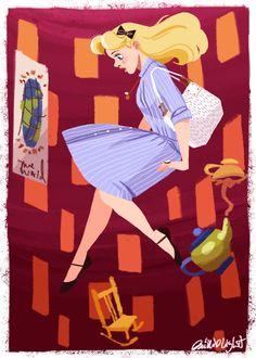 An Alice outfit illustration for Disneybound! disneybound: By Phillip Light Lewis Carroll, Disney Fan Art, Disney Love, Disney Magic, Disney Stuff, Disney And Dreamworks, Disney Pixar, Disney Characters, Disney Bounding