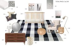 Gender Neutral Nursery rooms on a budget by Emily Henderson Rug available on Alice Lane Home Nursery Paint Colors, Nursery Layout, Nursery Design, Nursery Room, Boy Room, Cream Nursery, White Nursery, Nursery Neutral, Neutral Nurseries