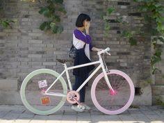 Pastel bike.