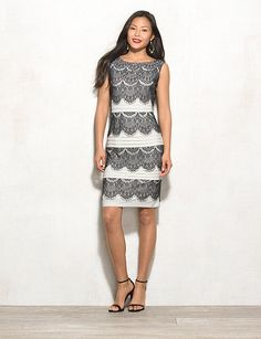 Tiered Lace Dress | dressbarn
