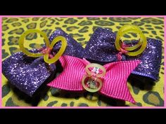 DIY - How to make Hair Bows No.3 - Long tailed stacked Hair Bow - Free tutorial with subtitles - YouTube