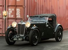 MG L1 Magna '1933–34 Vintage Racing, Vintage Cars, Antique Cars, Convertible, Assurance Auto, Mg Cars, British Sports Cars, Collector Cars, Exotic Cars
