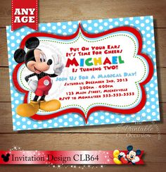 HUGE SELECTION Mickey Mouse Invitation, Second Birthday Mickey Mouse, 2nd Birthday Invite, Clubhouse Mickey Mouse Birthday Printables