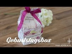 Geburtstagsbox mit Sale-a-bration-Produkten | Tortenkreationen & Frühlingsglanz | Stampin' Up! - YouTube