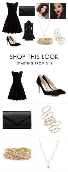 """""""Going to a Broadway play"""" by sarapotter98 on Polyvore featuring Jimmy Choo, Balenciaga, BP., Torrid and LC Lauren Conrad"""