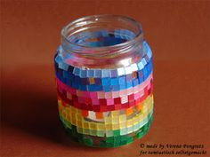 tamtastisch selbstgemacht: Windlicht mit kleinen Mosaiksteinen