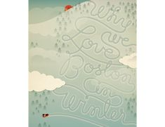 Love the play off of the winter scene and the typography.