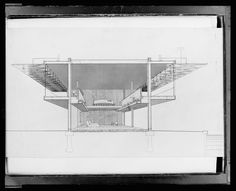 A Selection of Paul Rudolph's Perspective Sections – SOCKS Architecture Drawings, School Architecture, Sarasota School, Sectional Perspective, Paul Rudolph, Conceptual Sketches, Section Drawing, Architectural Section, Architectural Presentation
