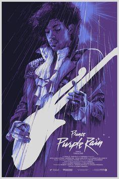 Purple Rain — Portfolio of Grzegorz Domaradzki Prince Purple Rain, Purple Rain Movie, Glam Rock, Rock Internacional, Heavy Metal, Dark Wave, The Artist Prince, Rain Art, Movie Poster Art