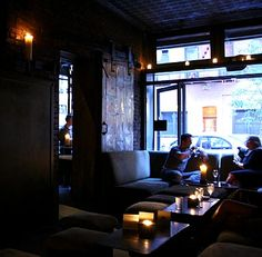the room - a candlelit, cozy lounge. Great wine spot for a date in soho