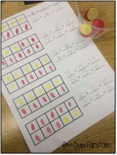 Make a Ten: Low Prep, High Engagement (First Grade Fairytales) Math For Kids, Fun Math, Math Activities, Educational Activities, Addition And Subtraction Practice, Math Addition, Centers First Grade, Math Centers, Kindergarten Assessment