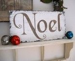 noel sign.  Love the font and reclaimed look!