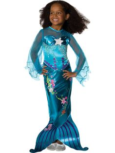 Take a trip under the sea with this delightful Magical Mermaid Girl's Costume!