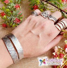Handmade jewelry and more! Handmade Stamps, Handmade Art, Handmade Jewelry, Ring Bracelet, Silver Bracelets, Napkin Rings, Silver Cuff Bracelets, Handmade Jewellery, Jewellery Making