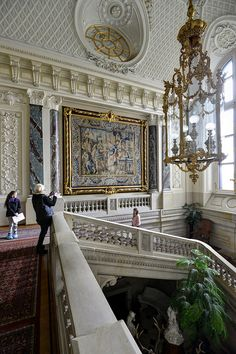 Pszczyna Castle Interior, Poland - classical-style palace. Constructed as a castle in 13th century or earlier, in a gothic style, it was rebuilt in a renaissance style in the 17th century.