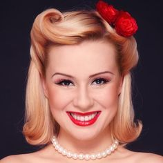 Classy pin up hairstyle - for 40's week at school?