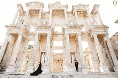 Fresh from Library of Celsus The Pre-Wedding moment of @dylan_sahara & @seventeenifan dressed up in a gorgeous and elegant black gown is beautified by the classical building and their landscape surroundings. . . Courtesy from Dylan Sahara & Ifan Prewedding Location Ephesus, Turkey  Photograph by @alvinfauzie . . Check our website for the other photos at www.alvinphotography.co.id
