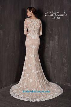 Calla Blanche wedding dress/gown- ivory mermaid style wedding ...
