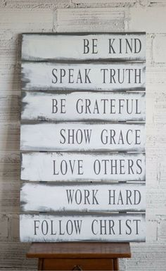 Family Rules Sign | Christian Values sign | Family Values | Gift for Her | Family Sign, Gift idea, Rustic family sign, Farmhouse sign, Home decor, Living room wall decor, Farmhouse decor, Fixer upper style, Rustic decor #ad