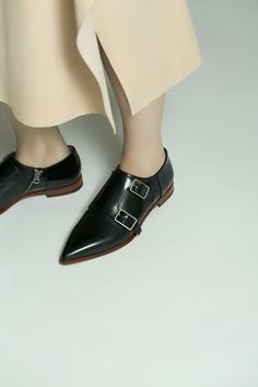 Acne Studios Masca black Monk strap shoes